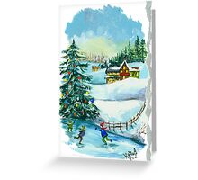 Winter - Christmas Card Greeting Card