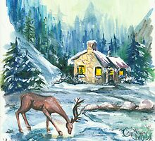 Winter Scene No.1 - Season's Greetings by Elisabeta Hermann