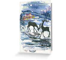 Winter Scene No. 2 - Season's Greetings Greeting Card