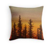 Pinetree Sunset Throw Pillow