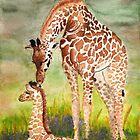 Mother & Baby Giraffe by melly385