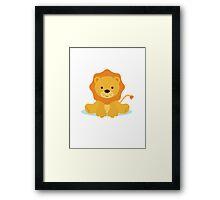 baby lion Framed Print