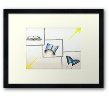 Book and Butterfly Transformation Framed Print