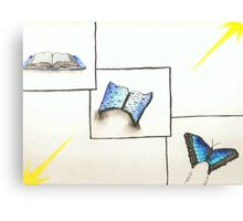 Book and Butterfly Transformation Canvas Print