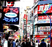 The writing on the walls -Tokyo signs. by Bryan W. Cole