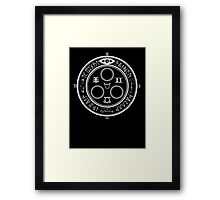 The Halo of The Sun (White) Framed Print