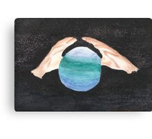 Hands and Earth Canvas Print
