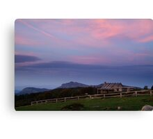 Dusk at Craigs Hut Canvas Print