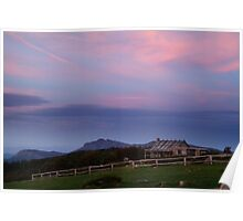 Dusk at Craigs Hut Poster
