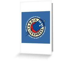 Tardis Express Futurama Doctor Who Greeting Card