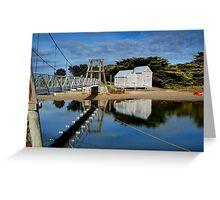 Swing Bridge Lorne Greeting Card