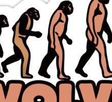 Evolution vs creationism humor Sticker