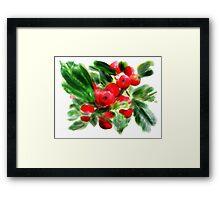 Holly Daze Framed Print