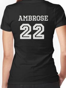 Ambrose Jersey Women's Fitted V-Neck T-Shirt