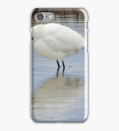 Snowy Egret Reflection iPhone Case/Skin
