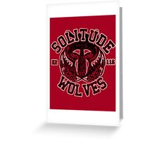 Skyrim - Football Jersey - Solitude Wolves Greeting Card