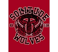 Skyrim - Football Jersey - Solitude Wolves Photographic Print