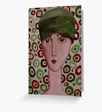 The Green Hat Greeting Card