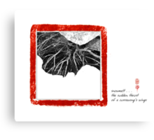snow melt Canvas Print