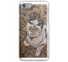 White tabby kitten iPhone Case/Skin