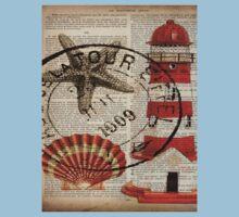 shabby chic vintage sea shells nautical lighthouse  Kids Clothes