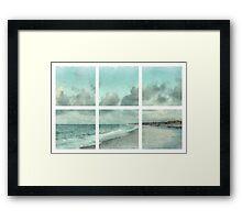 Sanibel Island Bowman Beach Watercolor Grid Framed Print