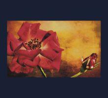 Scarlet Flower One Piece - Long Sleeve