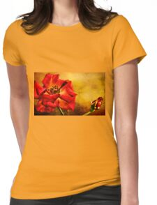 Scarlet Flower Womens Fitted T-Shirt