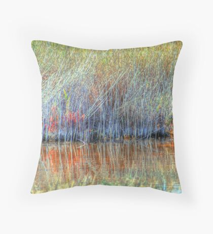 Wetland Grasses Throw Pillow