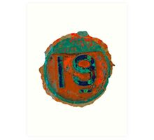 Number Nineteen Art Print