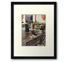 Mark Twain Statue #2 Framed Print
