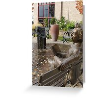 Mark Twain Statue #2 Greeting Card
