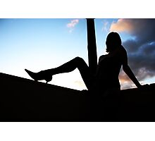 silhouette Photographic Print
