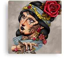 Tattooed lady  Canvas Print