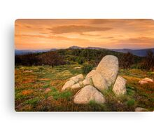View from Mt Stirling - high country Canvas Print