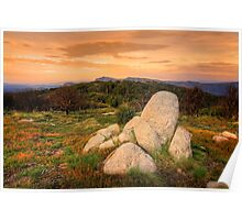 View from Mt Stirling - high country Poster