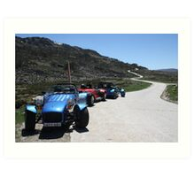 Clubmans at the bottom of the windy road Art Print