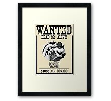 WANTED: BOWSER Framed Print