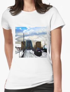 Tyne Bridge Traffic Womens Fitted T-Shirt