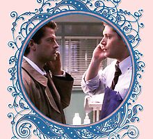 Dean and Castiel Phone Call by Diddlys-Shop