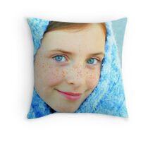 Blue Eyed Girl  #2 Throw Pillow