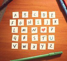 Alphabet ii by Raditya Fadilla