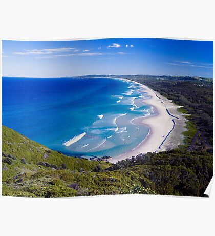"""back beach """"Byron Bay """" new south wales Poster"""