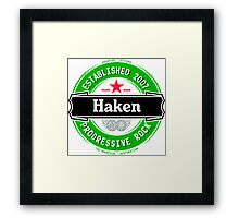 Haken Beer Framed Print