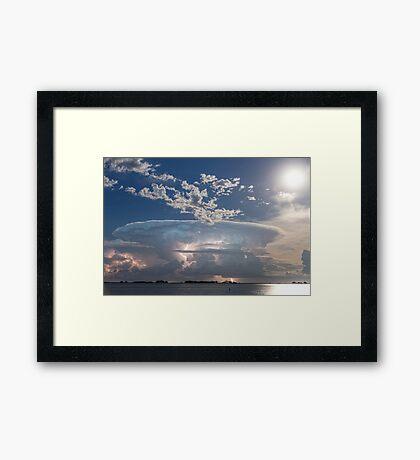 Lake Side Storm Watching Framed Print