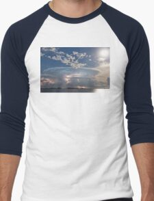 Lake Side Storm Watching Men's Baseball ¾ T-Shirt