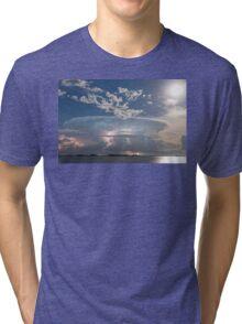 Lake Side Storm Watching Tri-blend T-Shirt