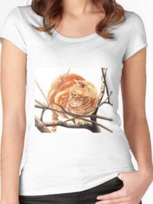 Sandy Women's Fitted Scoop T-Shirt