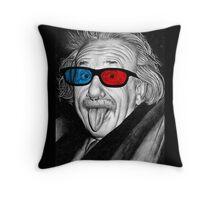Albert Einstein 3d Glasses Piercing Throw Pillow