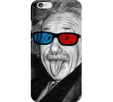 Albert Einstein 3d Glasses Piercing iPhone Case/Skin
